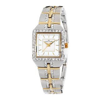 Anne Klein Womens 109209MPTT Swarovski Crystal Accented Two Tone