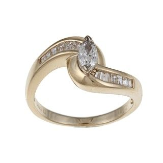 14k Yellow Gold 1/2ct TDW Diamond Engagement Ring (G H, SI1 SI2