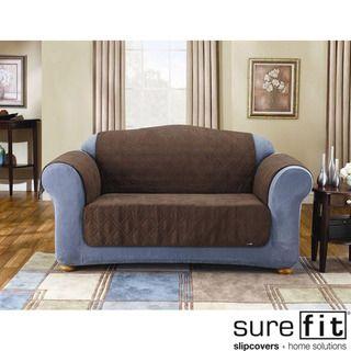 Sure Fit   Cobertor de sofá para mascotas, acolchado, de gamuza