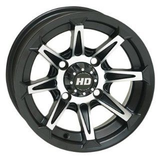 156 STI HD2 Alloy Wheel 12x7 6.0 + 1.0 Matte Black POLARIS RANGER