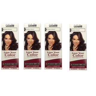 CoSaMo Love Your Color 765 Medium Brown Hair Color (Pack of 4