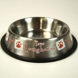 Texas Longhorns Stainless Steel Pet Dish