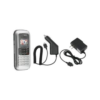 Eforcity Clear Crystal Case/ Car/ Wall Chargers for LG EnV VX9900