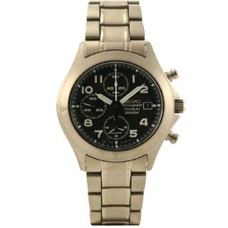 Seiko Mens Titanium Chronograph Watch