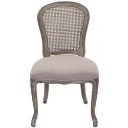 Riveria Antiqued Oak Finish Taupe Side Chairs (Set of 2)