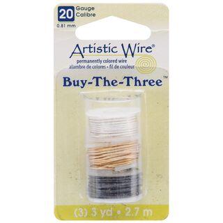 Artistic Wire Buy The Three 3/Pkg 20 Gauge Silver/Brass/Hematite 3 Yd