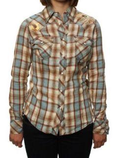 True Religion Womens Foil & Crystal Plaid Cowgirl