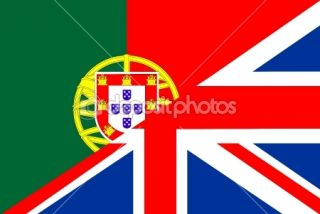 Uk portugal flag  Foto Stock © antonel adrian tudor #10649763