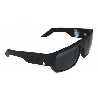 Spy Optic Mens Blok Matte Black Rectangular Sunglasses
