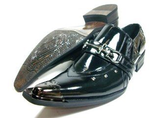 Designer Metal Tip Loafer Dress Shoes d Aldo Styled in Italy Shoes