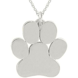 10k Gold Paw Print Designer Necklace