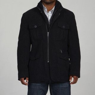 Andrew Marc Mens Officer Wool/Cashmere Blend Coat FINAL SALE