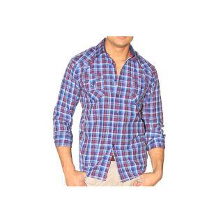 191 Unlimited Mens Plaid Western Shirt