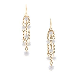 Adrienne Vittadini Anzio Simulated Pearl Drop Earrings