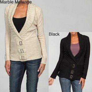 Razzle Dazzle Womens Shawl Collar Tunic Sweater
