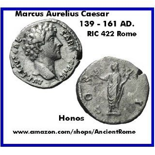 MARCUS AURELIUS CAESAR. Honos. 139   161 AD. ROME MINT