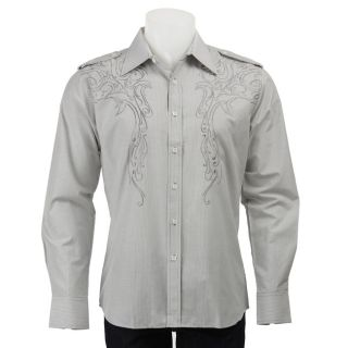 Unlimited 191 Mens Embroidered Long sleeve Woven Shirt