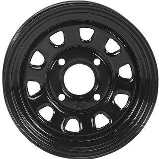 ITP Delta Steel Wheel   12x7   4+3 Offset   4/156   Black, Wheel Rim