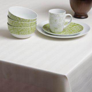 Carlton Ivory Herringbone Spill proof Tablecloth