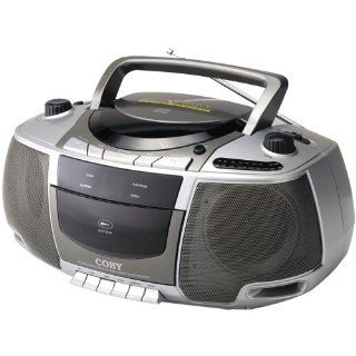 Coby Cxcd248 Portable Cd/Cassette Player With Am/Fm Radio