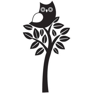 Mounted Rubber Stamp 1.5X2 Perching Owl