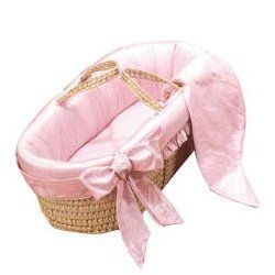 Prima Donna Moses Basket   Color Pink Baby