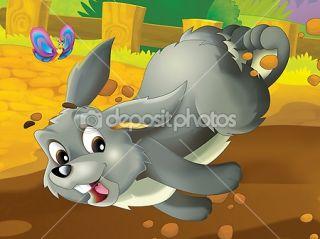 Running cartoon rabbit  Stock Photo © Maciej Sojka #12078572