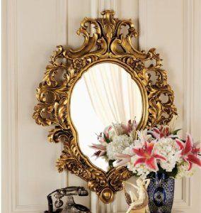 French Rococo Antique Replica Antoinette Salon Mirror