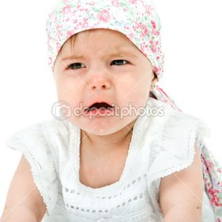 Baby girl with sad face expression.  Stock Photo © Karel Noppe