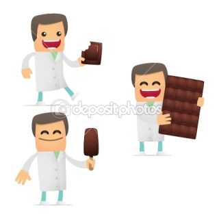 Set of funny cartoon doctor  Stock Vector © Sergey Konyakin #8358452
