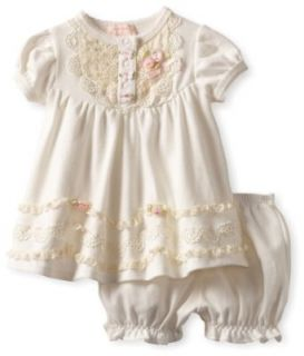 Biscotti Baby Girls Newborn Lace Lullaby Dress And Bloomer
