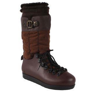 Pinky Womens Skyler 86 Brown Mid calf Snow Boots