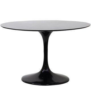 Eero Saarinen Style 48 inch Black Tulip Dining Table