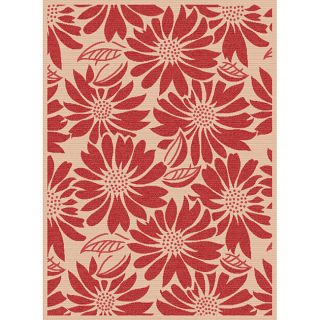 Garden Town Collection Red Area Rug (710 x 103)