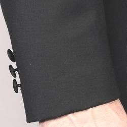 Mantoni Mens Black Wool Tuxedo