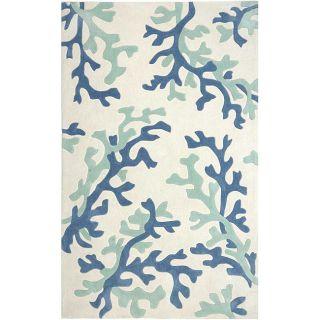 Hand Tufted Blue Area Rug (5 x 76)