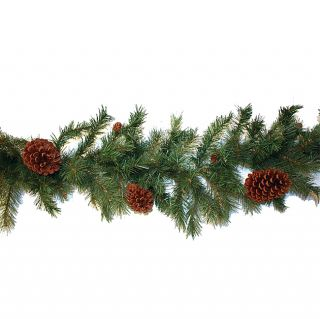 Good Tidings 96579 Pembroke 200 Tips with Pinecones Garland