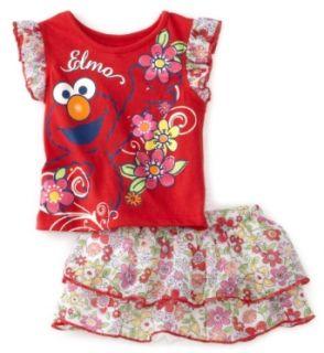 Sesame Street Baby Girls Infant Elmo Floral Scooter Skirt