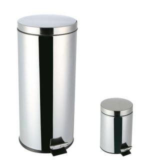 Lot de 2 poubelles 30 + 3 litres (avec seau)   Achat / Vente POUBELLE