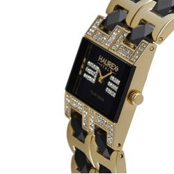 Haurex Italy Luna Womens Gold and Black Watch
