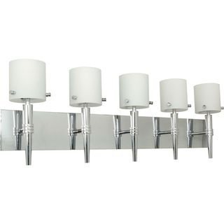 Nuvo Jet 5 light Polished Chrome Vanity Fixture