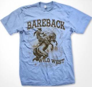Bareback Bareback Bronc Riding Mens Rodeo T shirt, Wild