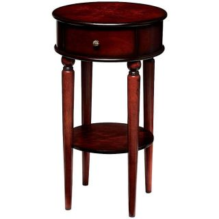 Antique Mahogany Finish Round Side Table