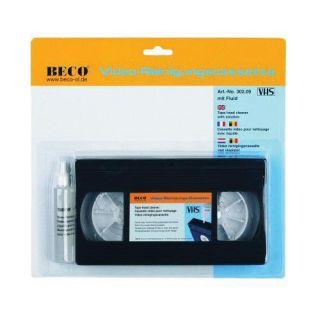 Cassette vidéo VHS avec liquide de nettoyage, blister BECO 302.09