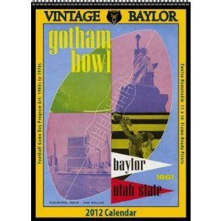 Vintage Baylor Football 2012 Wall Calendar Sports