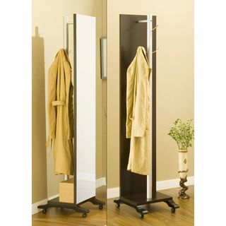 Reversible Two sided Coat Rack with Vanity Mirror