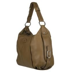 Tods Brown Leather Hobo Bag