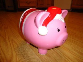 RE Mrs Claus Santa Pink Pig Piggy Bank   Ceramic   from