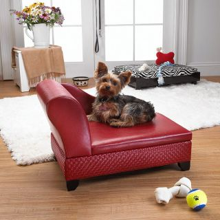 Enchanted Home Pet Red Pet Sofa Bed with Hidden Storage MSRP $129.99