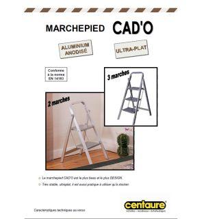 Marchepied Aluminium ultra plat CadO 3 marches   Achat / Vente